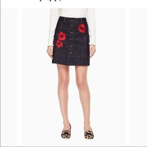 Like new. Kate spade poppy denim skirt